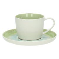 PORCELINO AQUATIC - PORCELINO AQUATIC -  P/Tea/capuccino -  porselain - schakeringenvan blauw aqua groen - DIA 14 - H 6 cm - porselein - DIA 14 x H 6 cm