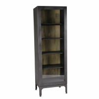 MARIO - cabinet - iron / glass - L 60 x W 40 x H 180 cm