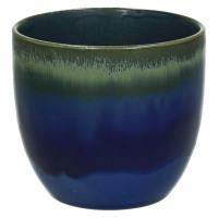 AGATE-Vase-Céramique-bleu-S- dia 10 x 9 cm