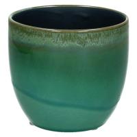 AGATE-Vase-Céramique-Vert-S- dia 10 x 9 cm