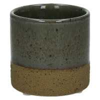 SUNA - flower pot - composite of sandstone - DIA 7,5 x H 7,2 cm - grey
