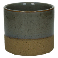 SUNA - flower pot - composite of sandstone - DIA 11 x H 10 cm - grey