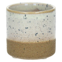 SUNA - flower pot - composite of sandstone - DIA 7,5 x H 7,2 cm - white