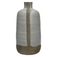 DIDIM-Vase-Céramique-Emaillé-Blanc-M- dia 13 x 28 cm