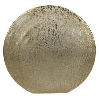 MOON-Vase-Aluminium-Or brossé-M- 38 x 39 cm