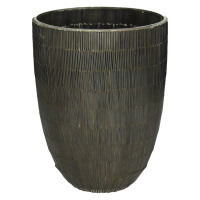 CARLITA - vase - glass - DIA 18 x H 24 cm - brown