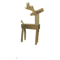 HARRY - reindeer - wood - L 27 x W 12 x H 44 cm