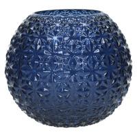 MOON-Vase-Verre-Bleu-L- dia 25 x 22.5 cm