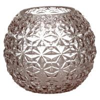 MOON-Vase-Verre-Rose clair-S-  dia 15 x 13 cm