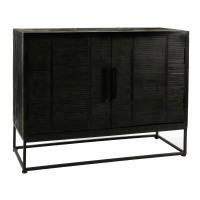 DURBAN  - cupboard - pine - L 110 x W 40 x H 85 cm - black