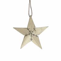 TYR - x-mas hanger star - birch - L 15 x W 2 x H 15 cm - natural