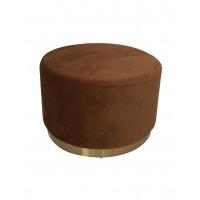 POMPADOUR  - poufe - velvet - DIA 55 x H 34 cm - caramel