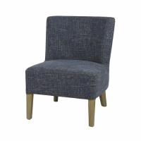 KENNEDY - fireside chair - cotton - L 52 x W 58 x H 68 cm - blue