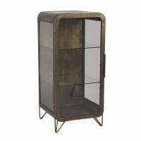 ALPHA - cabinet  - iron - L 46 x W 43 x H 99 cm - gold