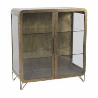 ALPHA - cabinet  - iron - L 92 x W 43 x H 99 cm - gold