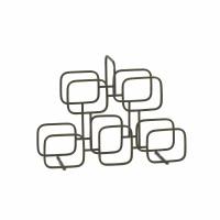 ROWN  - wine rack - iron - L 47 x W 16 x H 35 cm - gold