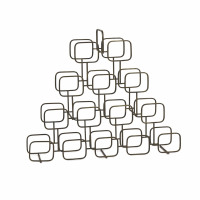 ROWN  - wine rack - iron - L 85 x W 16 x H 70 cm - gold