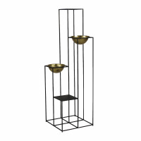 FRELI  - plant holder rack - iron - L 44 x W 44 x H 141 cm - gold