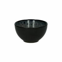MIRHA - mini kom - stoneware - DIA 11 x H 6 cm  - donkergrijs