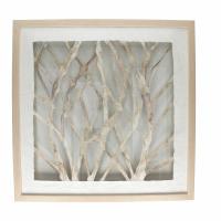 BRANCO - wall decoration branches - aluminium - L 61 x W 61 x H 4 cm - natural