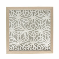 FLORO - wall decoration flower - aluminium - L 40 x W 4 x H 40 cm - natural