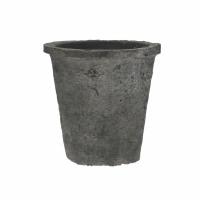 DAMOSIS - bloempot met mos - aardewerk - DIA 15 x H 14,5 cm - antraciet