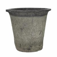 DAMOSIS - bloempot met mos - aardewerk - DIA 25 x H 23 cm - antraciet
