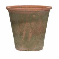 DAMOSIS - bloempot met mos - aardewerk - DIA 20 x H 18,5 cm - rood