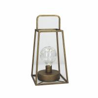 LONE  - lantern w/bulb - metal - L 15 x W 15 x H 30 cm - copper