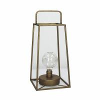 LONE  - lanterne a/led - métal - L 17 x W 17 x H 37 cm - cuivre