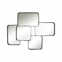 SQUAR  - miroir - métal - L 78 x W 11 x H 58 cm - noir