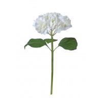 HYDRANGEA - hortensia - kunststof - H 55 cm - wit