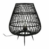 TAO - lampe - bambou - DIA 38 x H 45 cm - noir