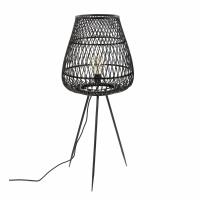 TAO - lampe - bambou - DIA 42 x H 103 cm - noir