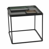 SKAR  - table basse - fer - L 50 x W 50 x H 46 cm - vert