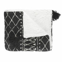 TOUDOU - throw - cotton - L 130 x W 160 cm - black