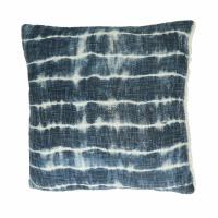TOUDOU - coussin - coton - L 45 x W 45 cm - bleu