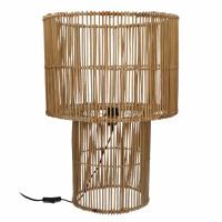 CARMEN - lampe de table - rotin - DIA 43 x H 60 cm - noir