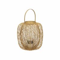 ZIGGY - lanterne - bambou - DIA 27 x H 30 cm - naturel