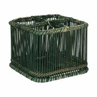 PRANA - bestekmandje - bamboe - L 19 x W 19 x H 15 cm - zwart