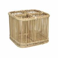 PRANA - panier à couverts - bambou - L 19 x W 19 x H 15 cm - naturel