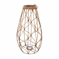 GUGULETO - lanterne - rotin - DIA 30 x H 65 cm - naturel