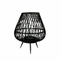 TAO - lanterne - bambou - DIA 26,5 x H 31,5 cm - noir
