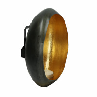 MEMOIRE - wall t-light holder - metal - L 22 x W 12 x H 22 cm - gold