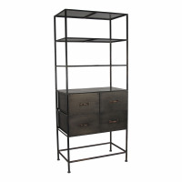 TYPOGRAPHIC - rack - iron - L 79 x W 46 x H 181 cm - black