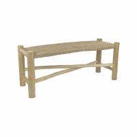 TREILLAGE - bench - teak / virofiber - L 110 x W 40 x H 45 cm - natural
