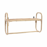 SAM - wall rack - rattan - L 70 x W 25 x h 40 cm - natural