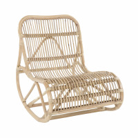KIM - rocking chair - rattan - L 62 x W 90 x H 80 cm - natural