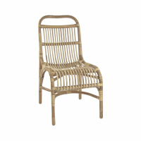 KIM - chair - rattan - L 48 x W 65 x H 90 cm - natural