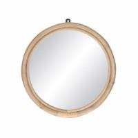 SAM - miroir - rotin / verre miroir - DIA 47 x W 3 cm - naturel